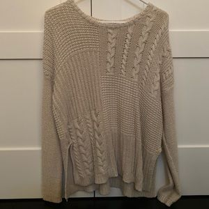 Abercrombie & Fitch Oversized Cable Knit Sweater